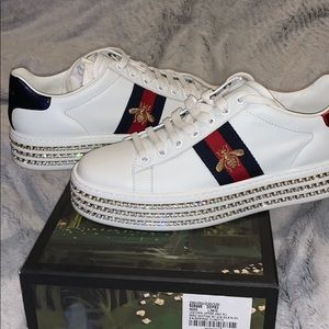 Ace gucci sneakers with crystals